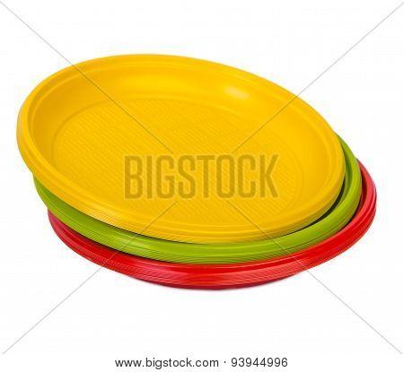Bright plastic plates