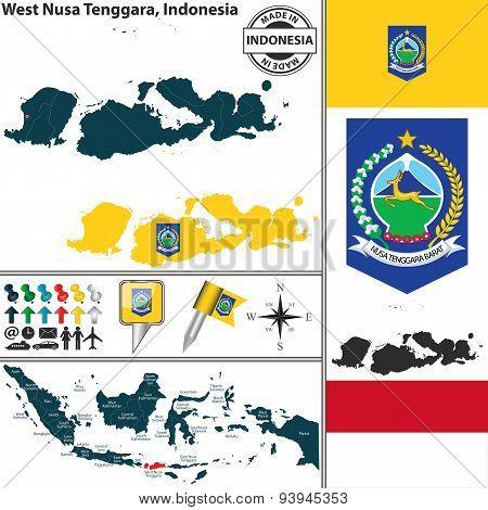 Map Of West Nusa Tenggara, Indonesia