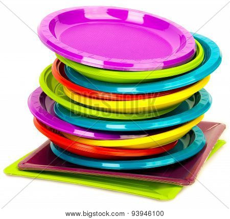 Bright disposable tableware