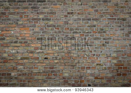 red brick wall - aged / vintage
