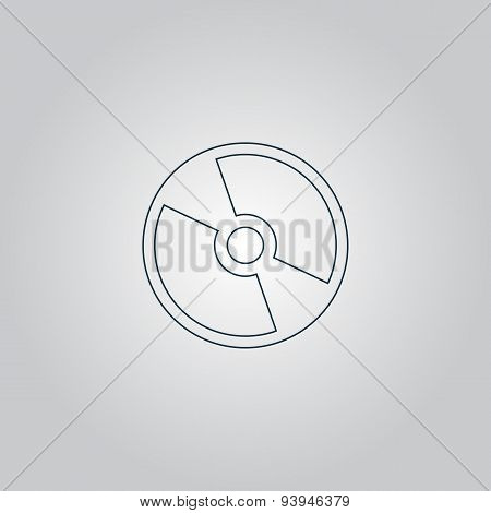 Vector CD or DVD icon
