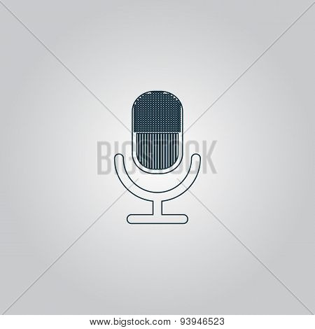 retro microphone icon