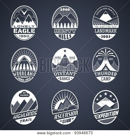 Mountain badge set2 white