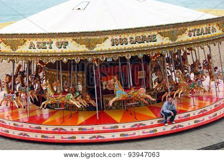Carousel ride, Brighton.