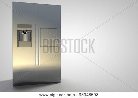 Refrigerator Kitchen Furniture Design Silver Modern Large