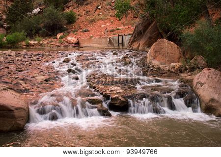 River in Zion Canyon National Park