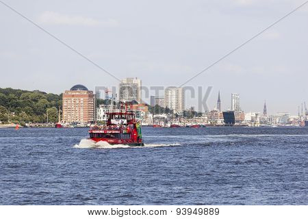 Tourist Boat In Hamburg, Editorial