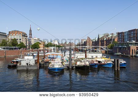 Binnenhafen In Hamburg, Germany