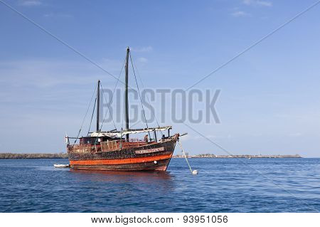 Kenyan Boat Near The Coast, Editorial