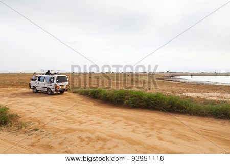Tourist In Tsavo East, Kenya, Editorial
