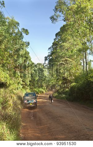 Kenyan Dirt Road Traffic, Editorial