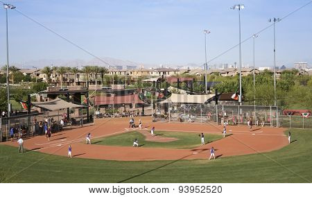 A Summerlin Little League Girls Softball Game