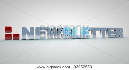 Newsletter Font 3D News Icon