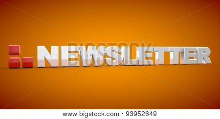 Newsletter Font 3D News Icon