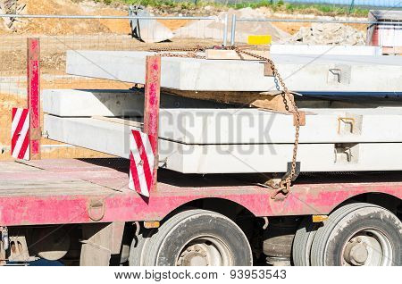 Truck-trailer With Precast Concrete