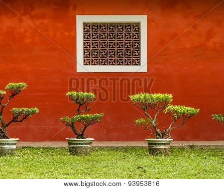 Wall Of Traditional Chinese Home