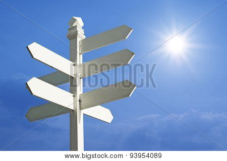 Direction Sign With Blank Spaces For Text