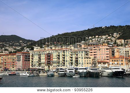 Harbour and cityscape of Nice