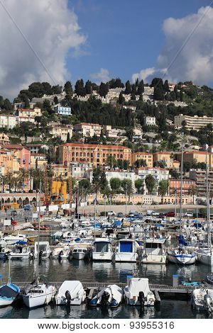 Menton cityscape and harbour