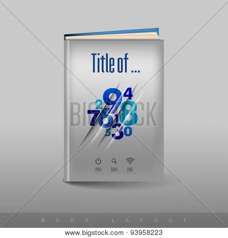 Modern Abstract Brochure As Book. Football Theme