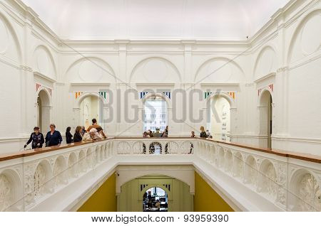 Amsterdam, Netherlands - May 6, 2015: Dutch People Visit Stedelijk Musem In Amsterdam