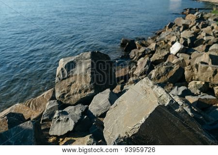 Rocks On The Shore Of Lake Baikal