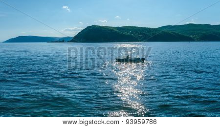 Fisherman On Lake Baikal