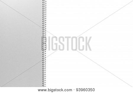 Close - up Opened blank white note book