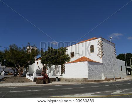 The church of Tuineje on Fuerteventura