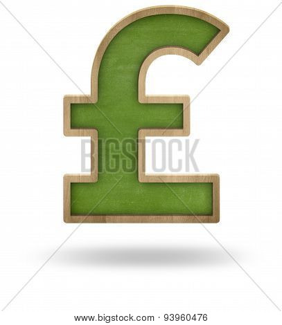 Green blank pound sign shape blackboard