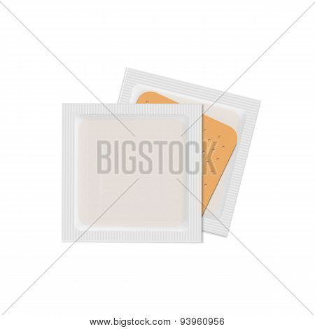 Vector Bandage Plaster Aid Band Medical Adhesive