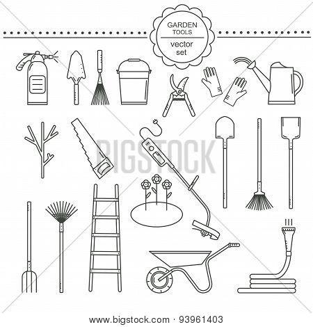 Garden line tools set
