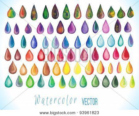 Colorful rainbow drops