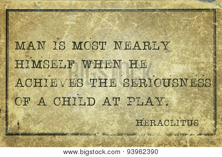 Play  Heraclitus