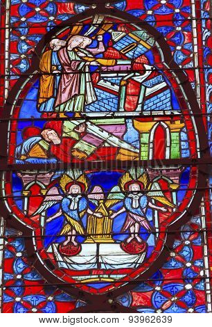 Angels Disciples Stained Glass Sainte Chapelle Paris France