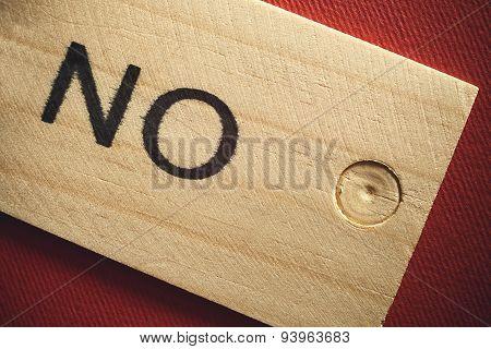No On Wood