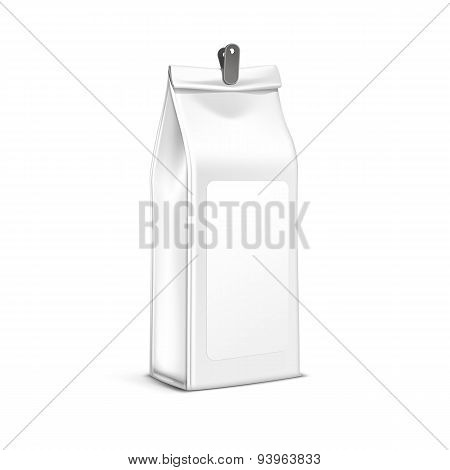 Vector Coffee Tea Packaging Package Bag Isolated
