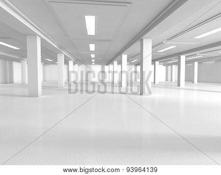 empty showroom 3D rendering