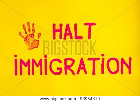 Halt Immigration