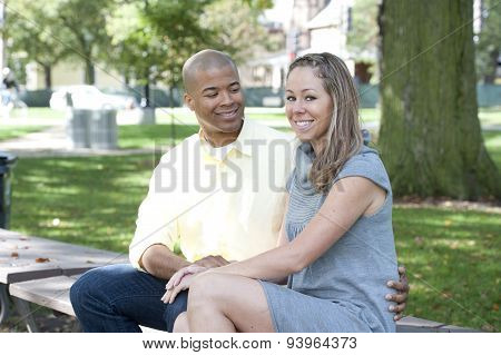 Happy Young Interracial Couple