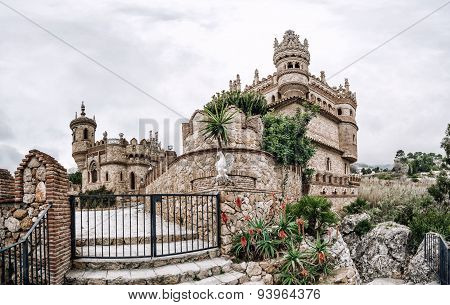 Colomares Castle In Benalmadena Town. Spain