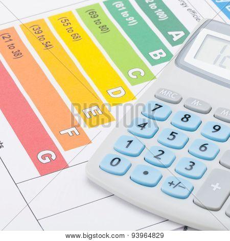 Energy Efficiency Chart And Calculator - Studio Shot