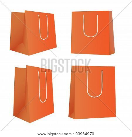 Mockup Blank Foil Food, Drink, Cosmetics Or Clothes. White Realistic Plastic Or Paper Pouch  Ready F