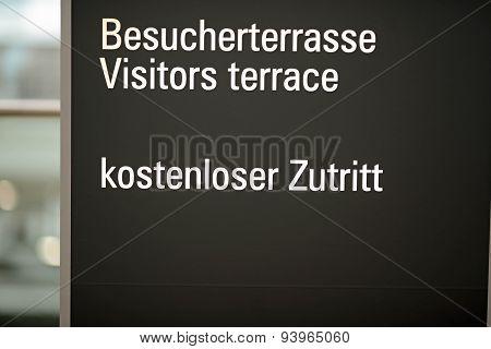 Visitors terrace
