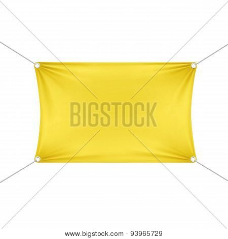 Yellow Blank Empty Horizontal Rectangular Banner