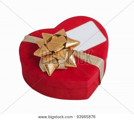 Red Heart, Bow And Visit Card
