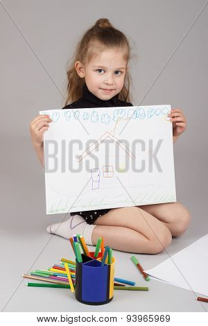The Little Girl Draws