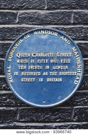 Queen Charlotte Street In Windsor