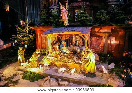 Christmas Scene In Church In Vienna
