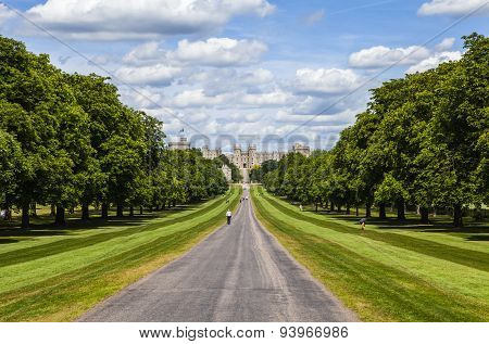 Windsor Castle And The Long Walk